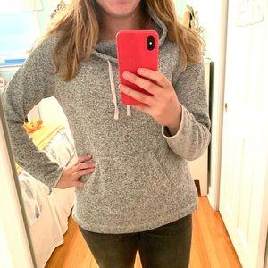 Eddie Bauer Grey Cowl Neck Sweater